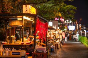 福岡県博多屋台街 中洲