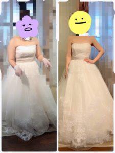 ウエディングドレスはどっちが似合ってる?
